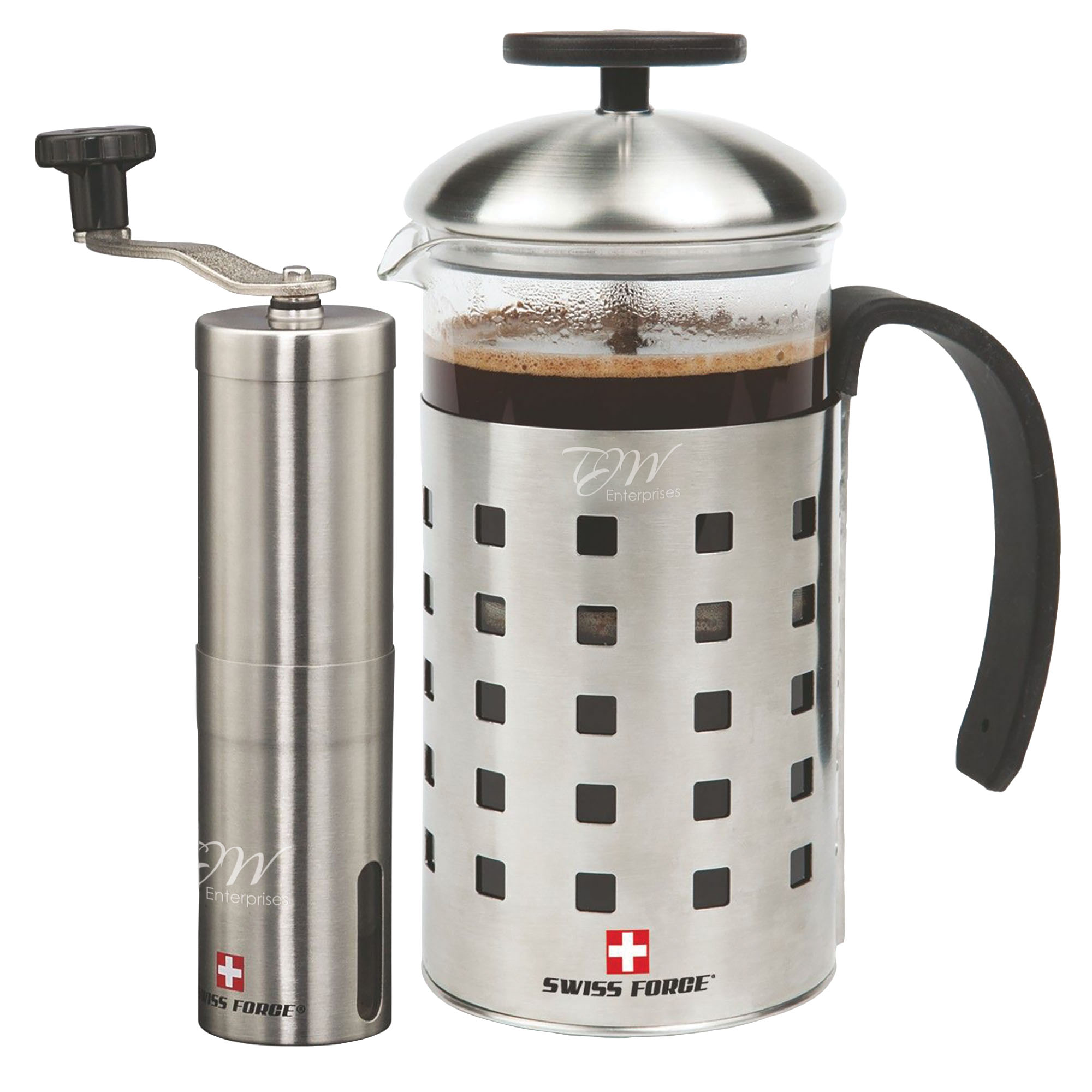 Swiss Force® Geneva French Press & Coffee Grinder Gift Set