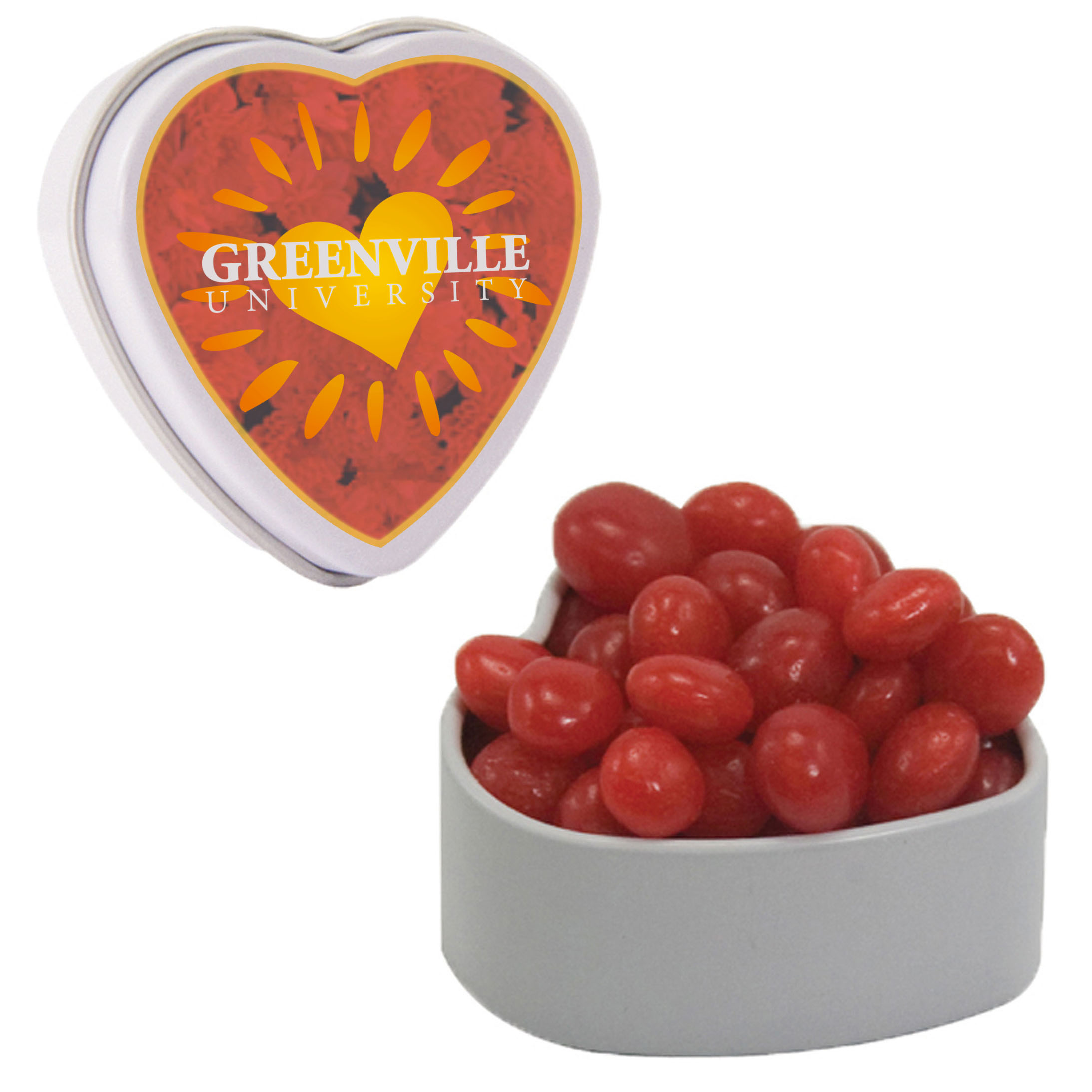 Small Heart Tin w/ Red Hots