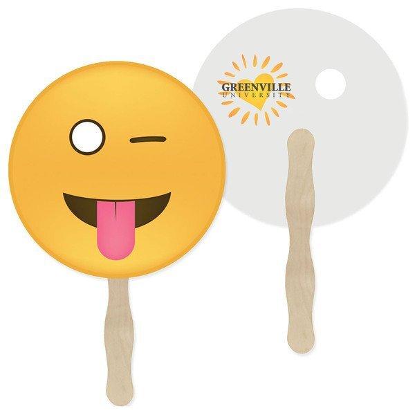 Wink Emoji Hand Fan