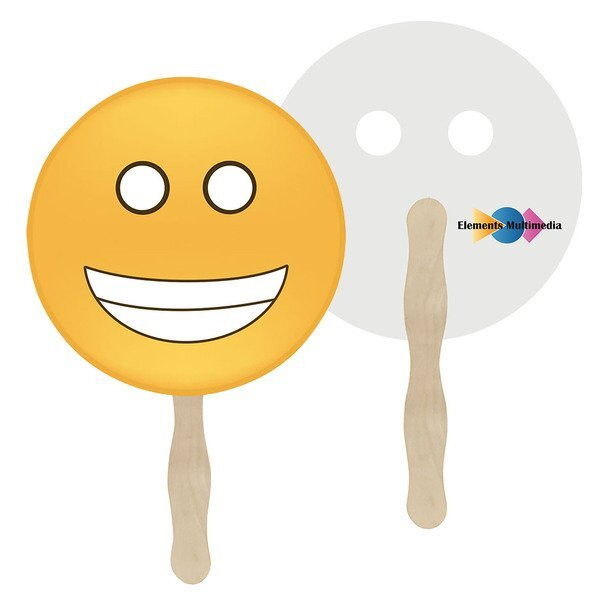 Grin Emoji Hand Fan