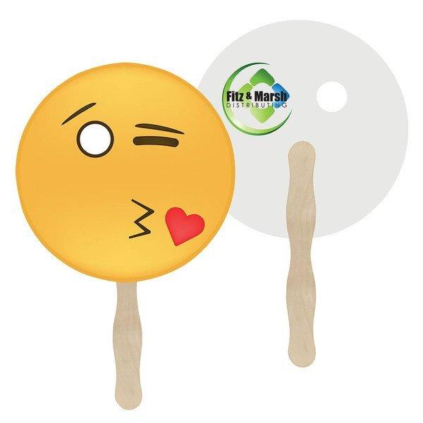 Kiss Emoji Hand Fan