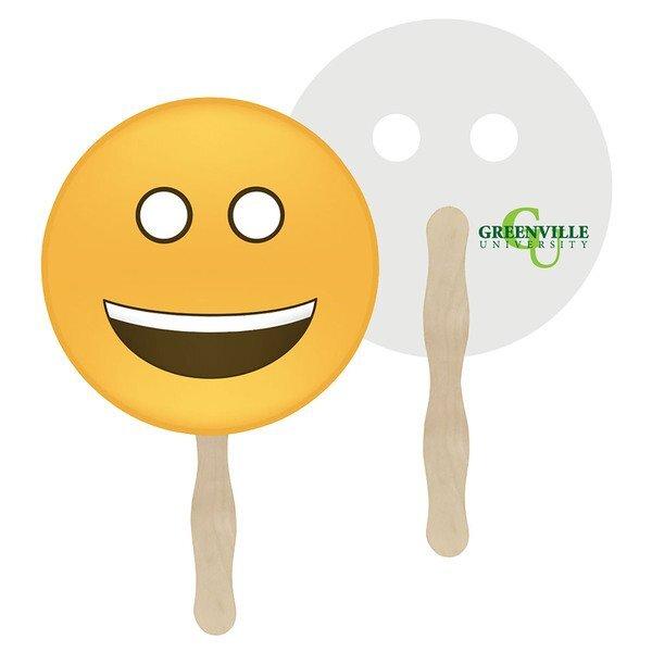 Smile Emoji Hand Fan