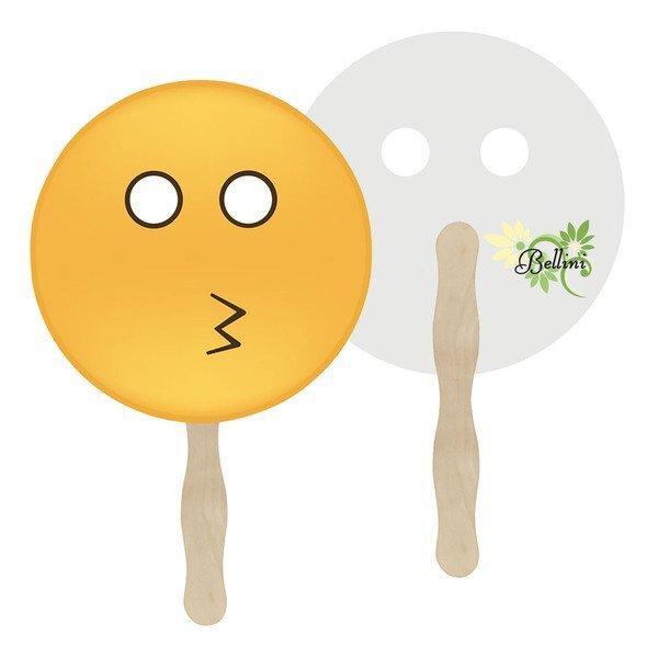Whistle Emoji Hand Fan