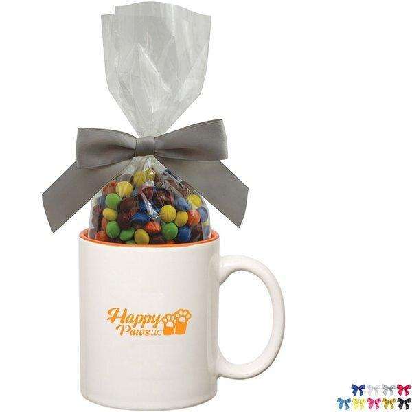 Two-Tone Ceramic Mug w/ Chocolate Littles, 11oz.