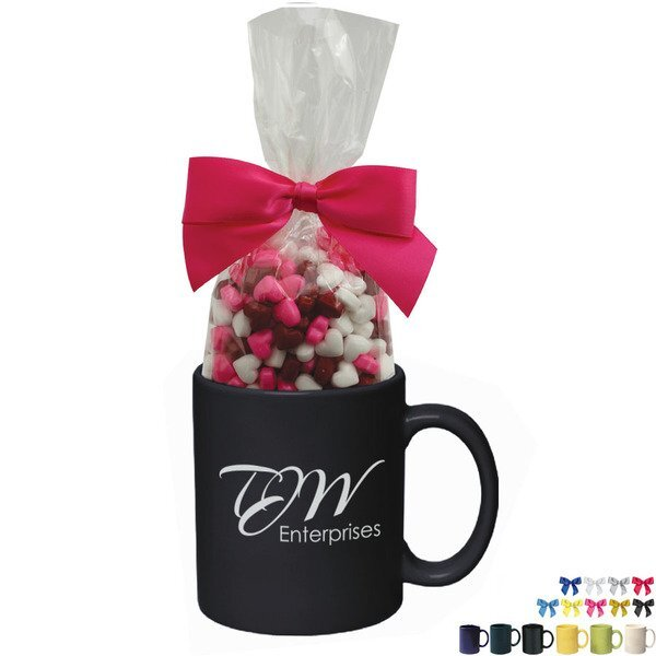 Ceramic Mug w/ Candy Hearts, 11oz.