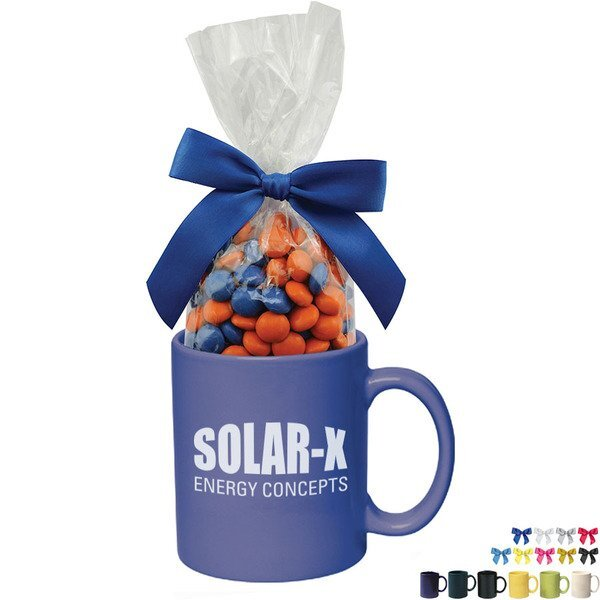 Ceramic Mug w/ Corporate Color Chocolates, 11oz.