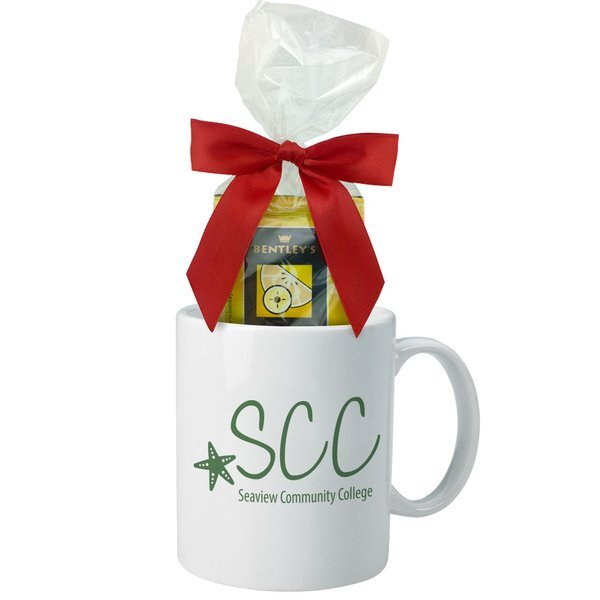 Ceramic Mug & Tea Bag Gift Set, 11oz.