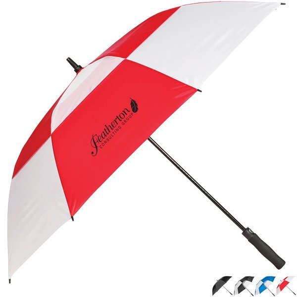 "Windproof Fiberglass Golf Umbrella, 58"" Arc"
