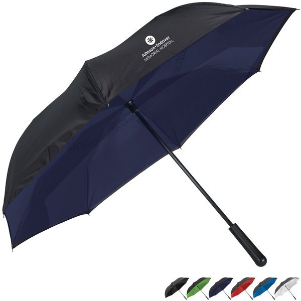"Colorized Manual Inversion Umbrella, 46"" Arc"