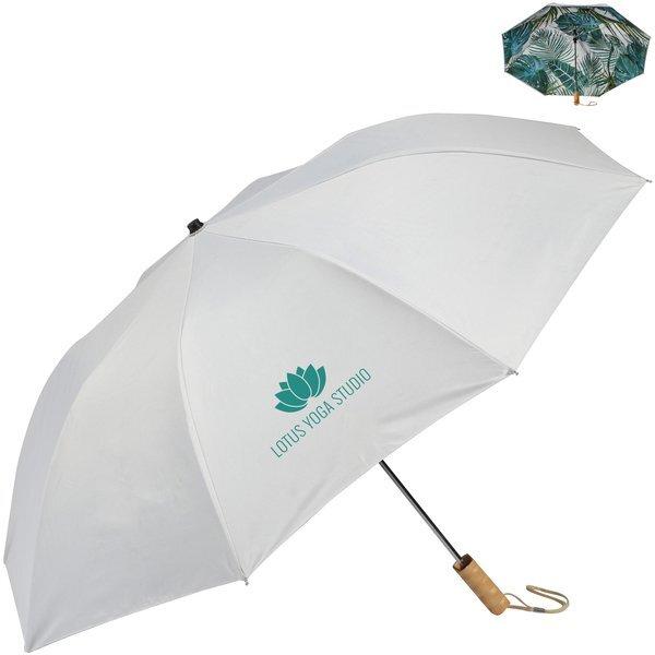 "Palm Trees Auto Open Folding Umbrella, 46"" Arc"