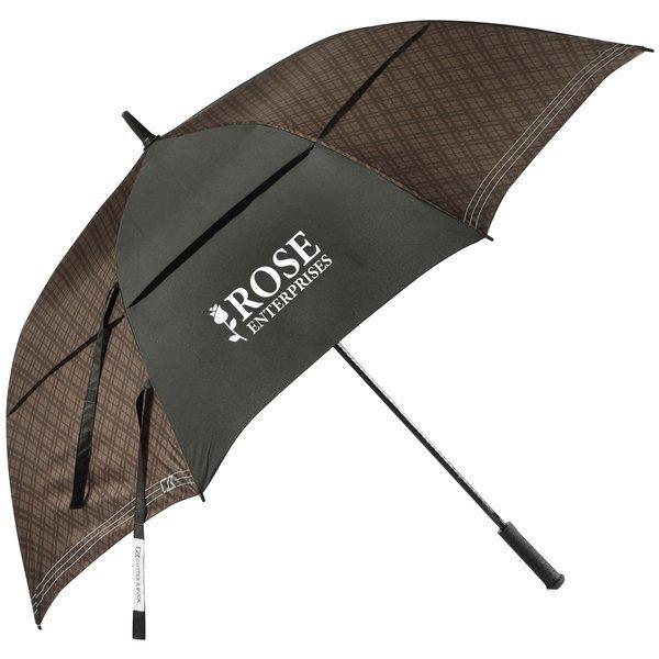 "Cutter & Buck® Plaid Golf Umbrella, 64"" Arc"