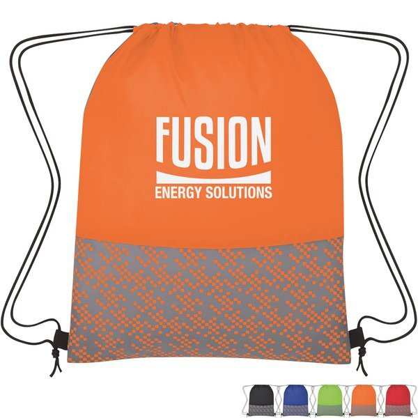 Bitmap Polyester Drawstring Backpack