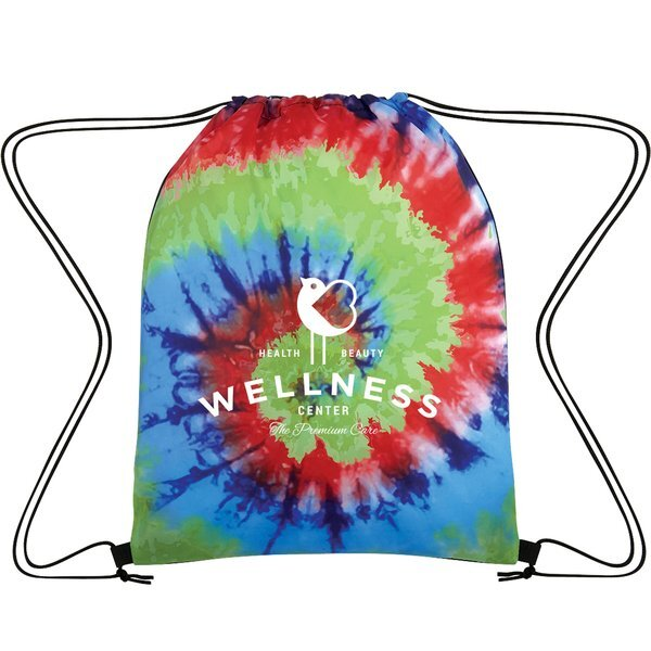 Tie-Dye Polyester Drawstring Bag