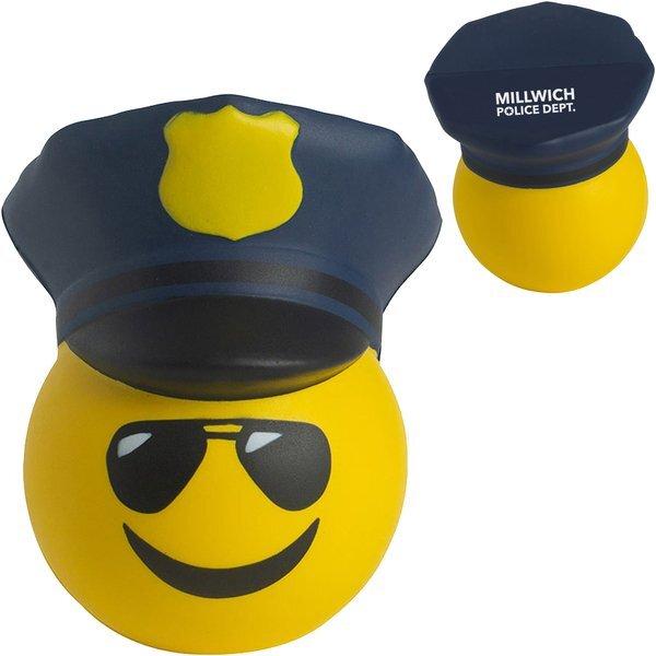 Police Officer Emoji Hat Stress Reliever