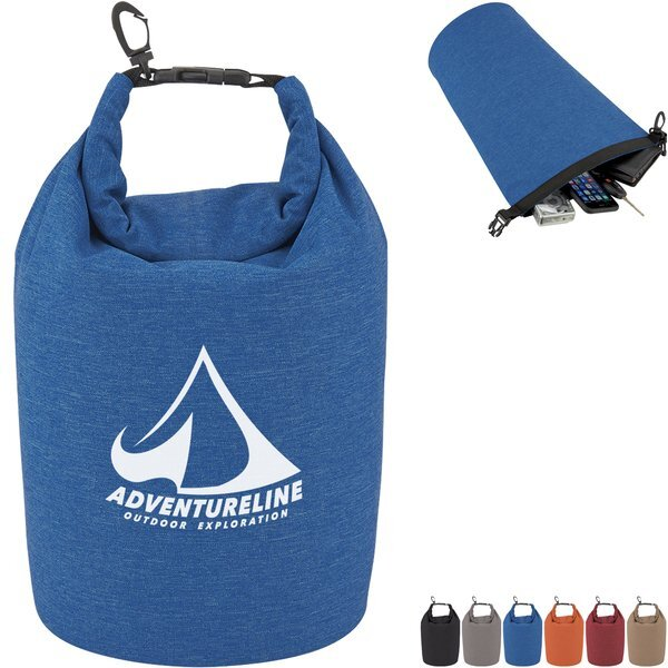 Heathered Polyester Waterproof Dry Bag, 5L