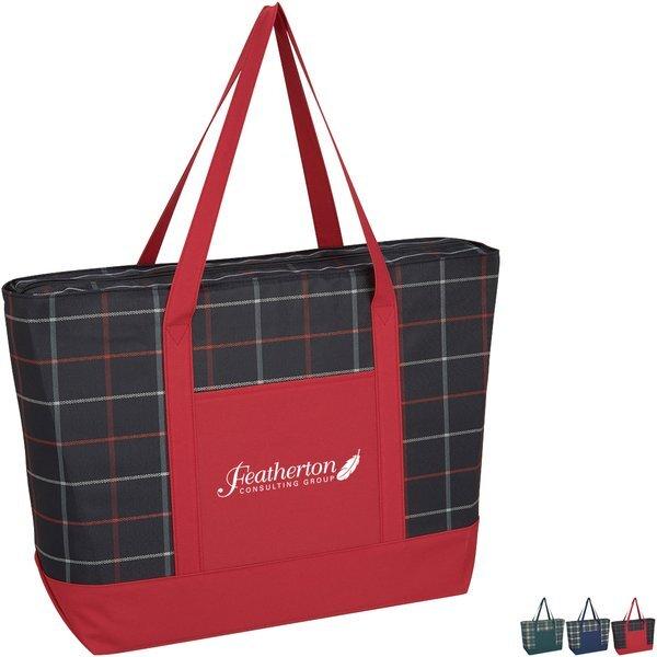 Crawford Plaid Polycanvas Twill Tote Bag
