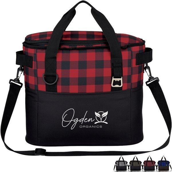 Northwoods Polyester Plaid Cooler Bag