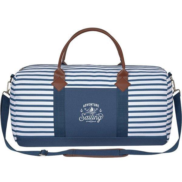 Cambridge Weekender Striped Polyester Duffel Bag
