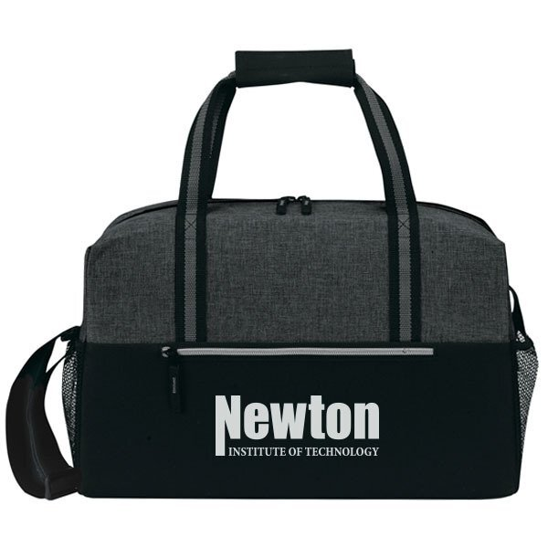 """Classic Heathered Polyester Weekend Duffel, 18"""""""