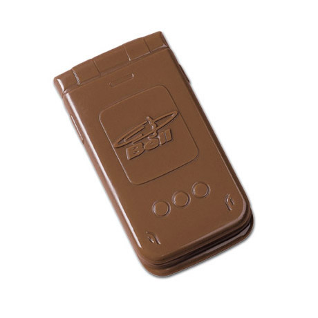 Chocolate Flip Top Cell Phone, 2oz.