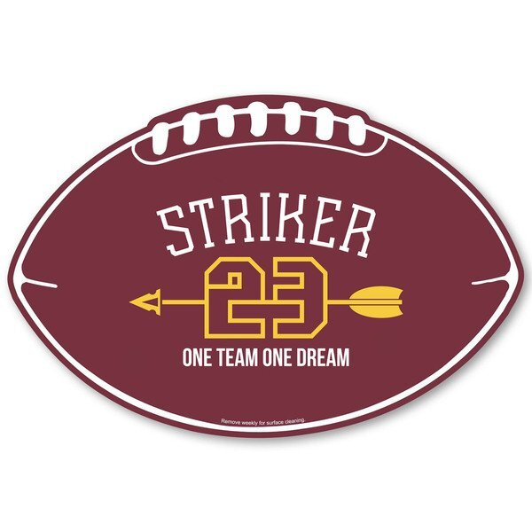 Football Car Sign Magnet