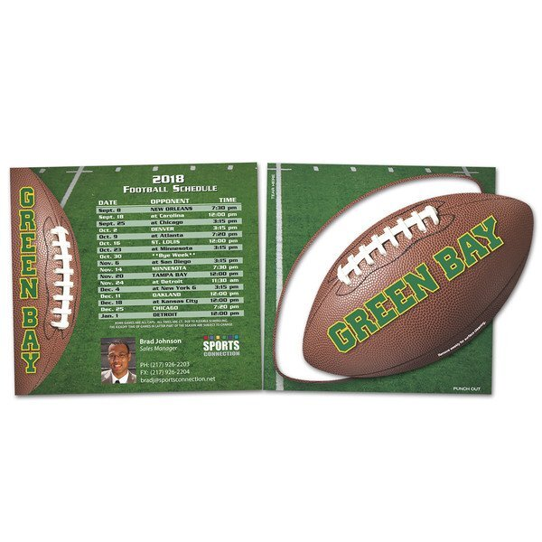 Schedule Magnet w/ Football Punch Out Car Sign