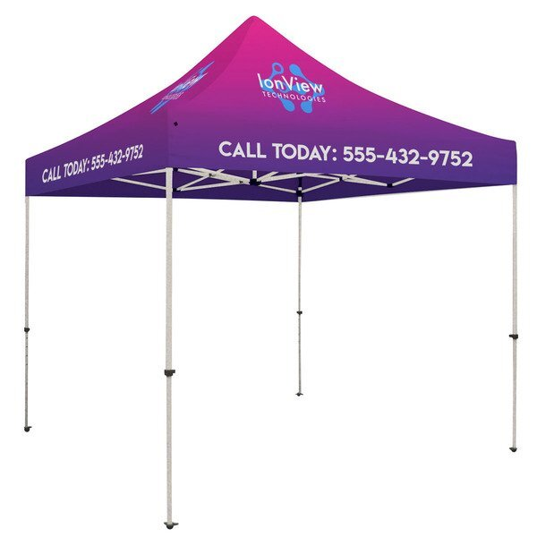 ShowStopper™ Standard Square 10' Event Tent, Full Color Imprint