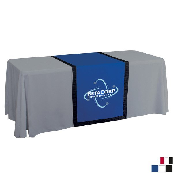 "Accent Table Runner, 28"" - Full Color Front Imprint"