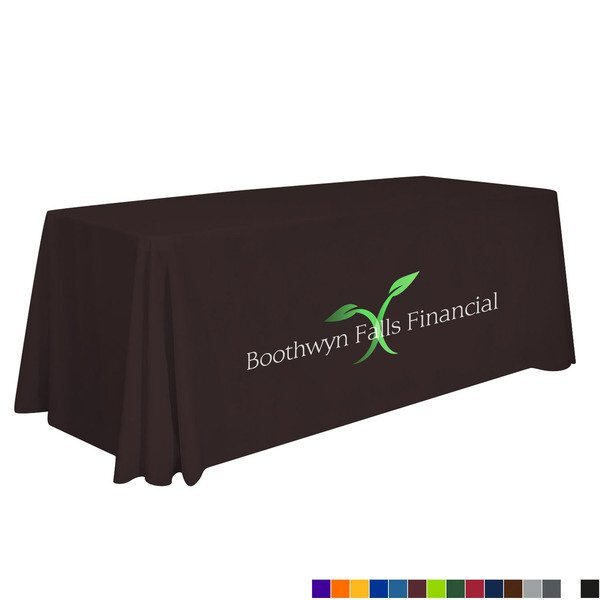 Standard Table Throw, 6' - Full Color Front