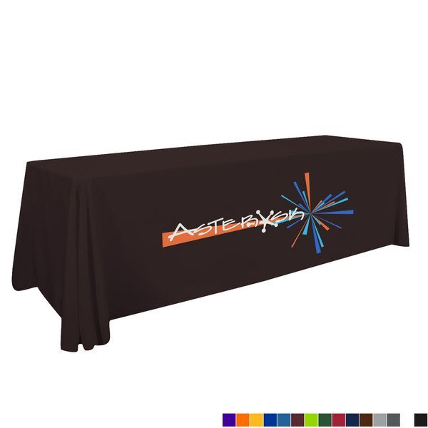 Standard Table Throw, 8' - Full Color Front