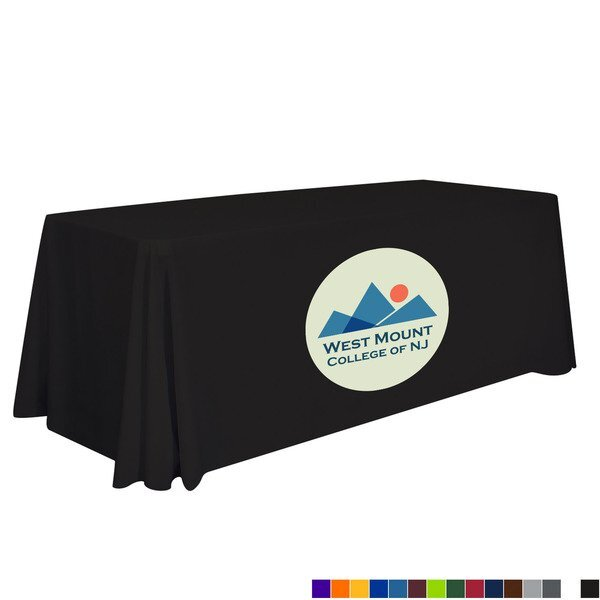 Quick Ship Standard Table Throw, 6' - Full Color Imprint