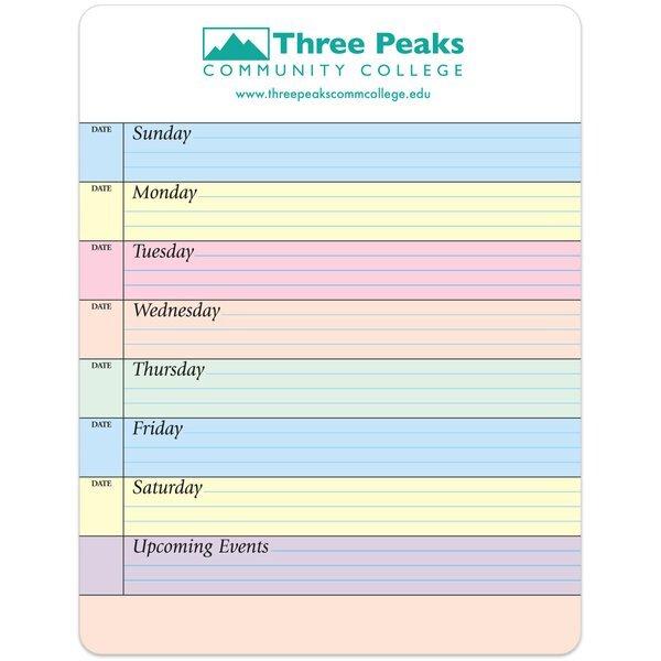 "Weekly Planner Memo Board w/ Magnet, 8-1/2"" x 11"""