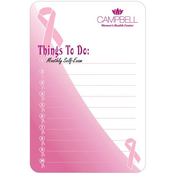 "Breast Cancer Awareness Memo Board w/ Magnet, 5-1/2"" x 8-1/4"""