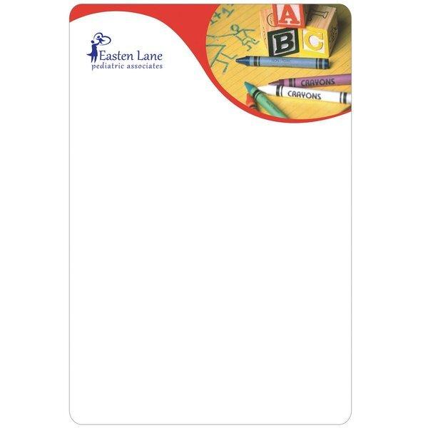 """Crayons & Blocks Memo Board w/ Magnet, 5-1/2"""" x 8-1/4"""""""