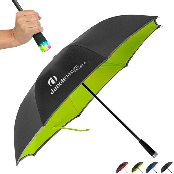 "Cumulus Reversible LED Light Up Umbrella, 48"" Arc"