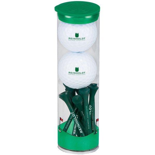 Wilson® Chaos Golf Ball 2 Ball Tall Tube