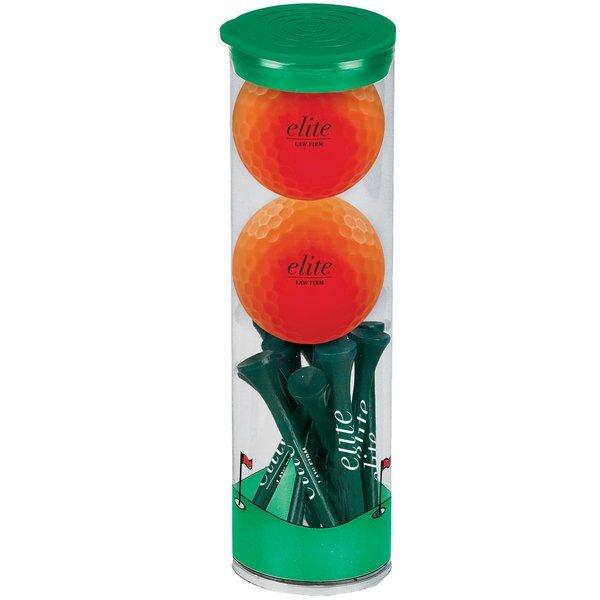 Volvik® Vivid Golf Balls 2 Ball Tall Tube