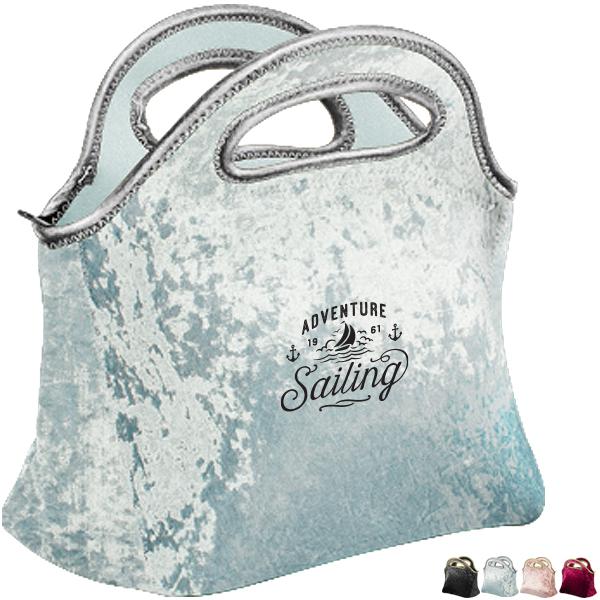 Gran Klutch Velvet Neonprene Lunch Bag