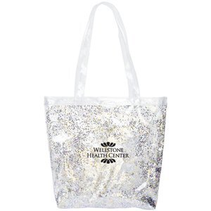 Confetti Clear Vinyl Daily Grind Tote