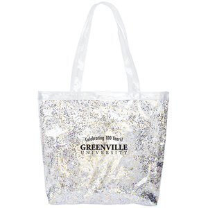 Confetti Clear Vinyl Daily Grind Super Size Tote
