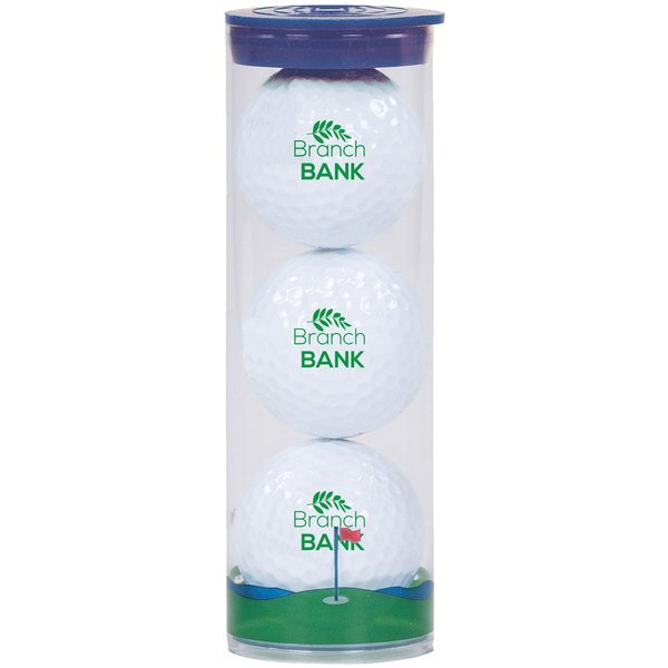 Wilson® Chaos Golf Ball 3 Ball Clear Tube