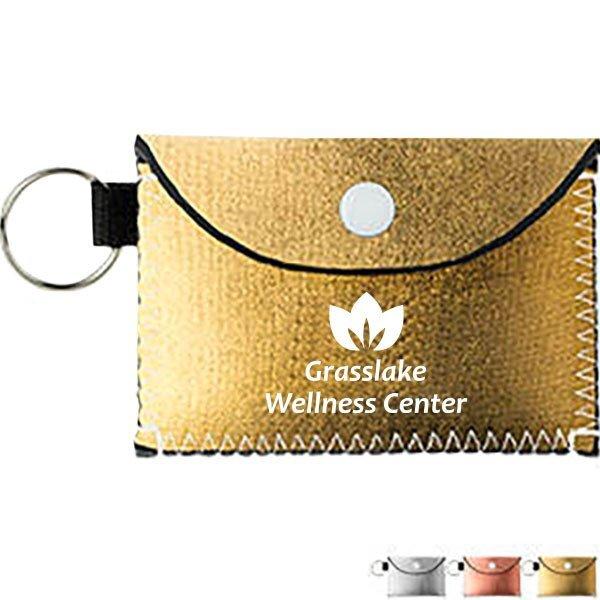 Bend & Snap Metallic Neoprene Key Wallet