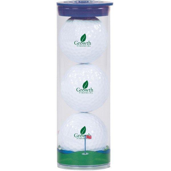 Pinnacle® Rush Golf Ball 3 Ball Clear Tube