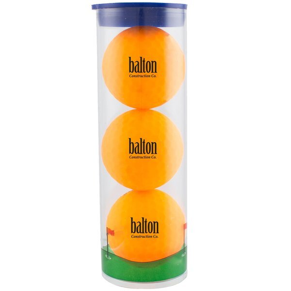 Volvik® Vivid Golf Ball 3 Ball Clear Tube