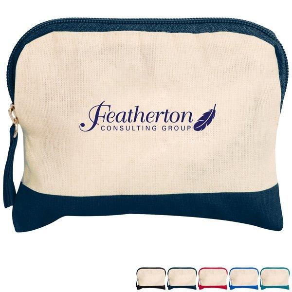 Cotton Color Accent Accessory Bag