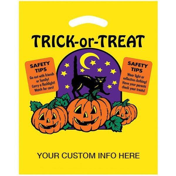 "Halloween Trick or Treat Plastic Bag, 12"" x 15"""