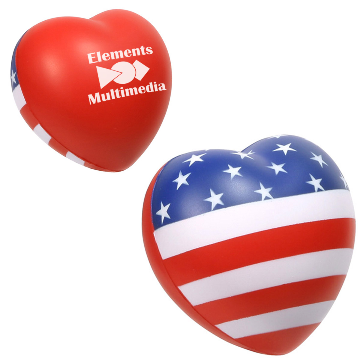 Patriotic Valentine Heart Stress Reliever