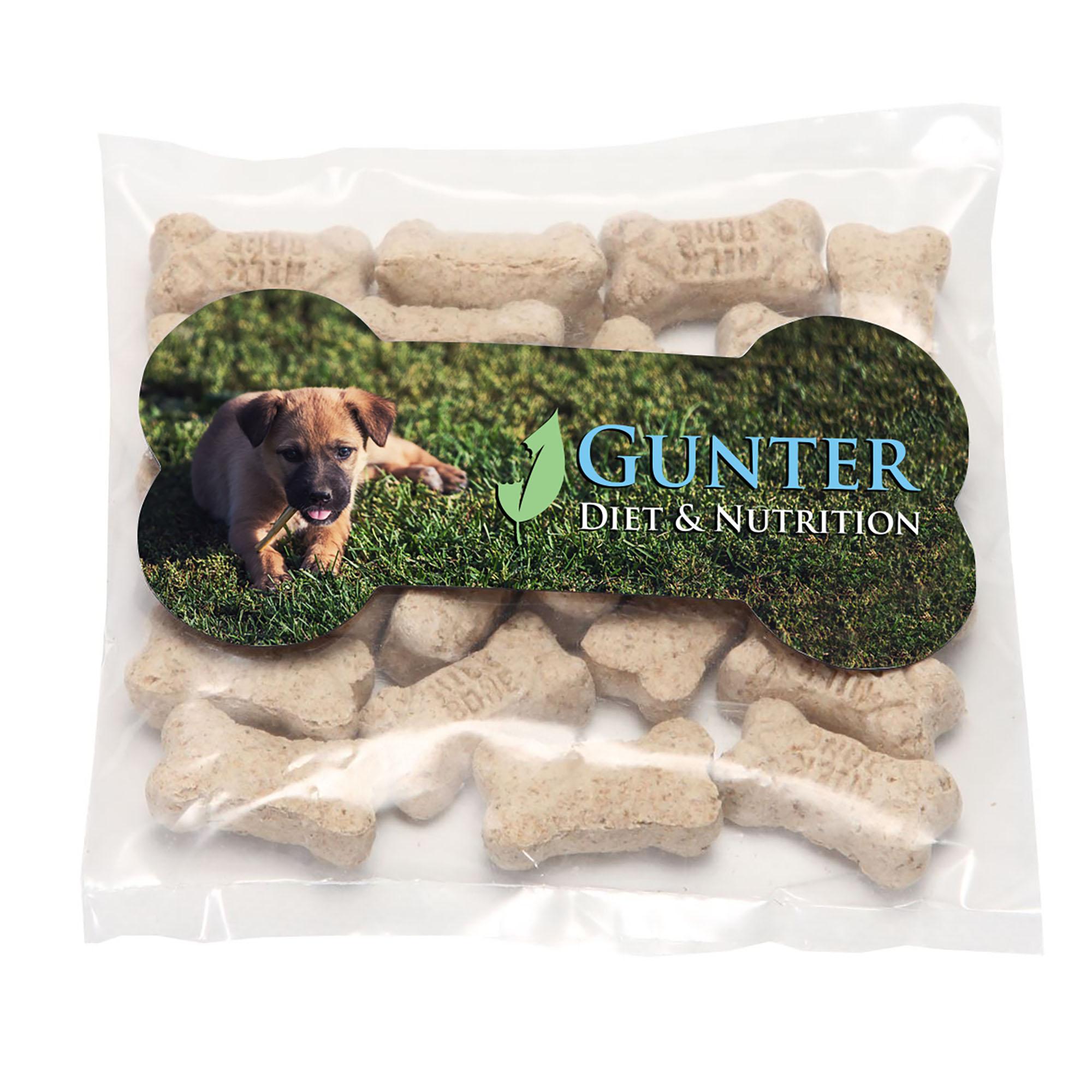 Mini Dog Bones in Bag with Bone Magnet