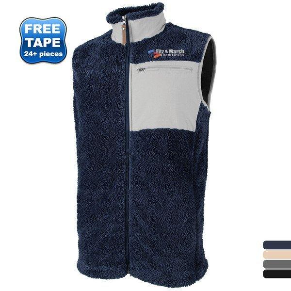 Charles River® Newport Men's Full Zip Fleece Vest with Contrast Pocket