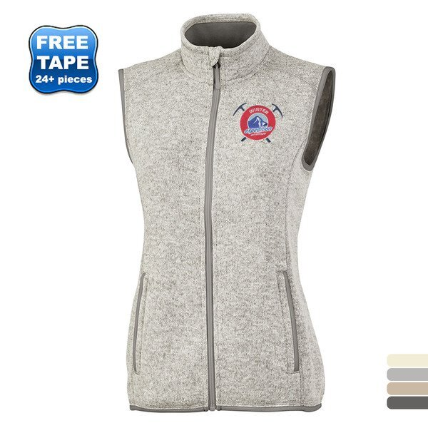 Charles River® Pacific Ladies' Heathered Fleece Vest